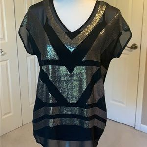 Womens Black sequin Top